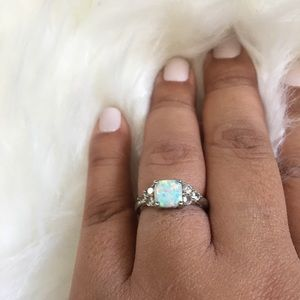 Jewelry - Women Lab Created White Opal Cocktail Ring